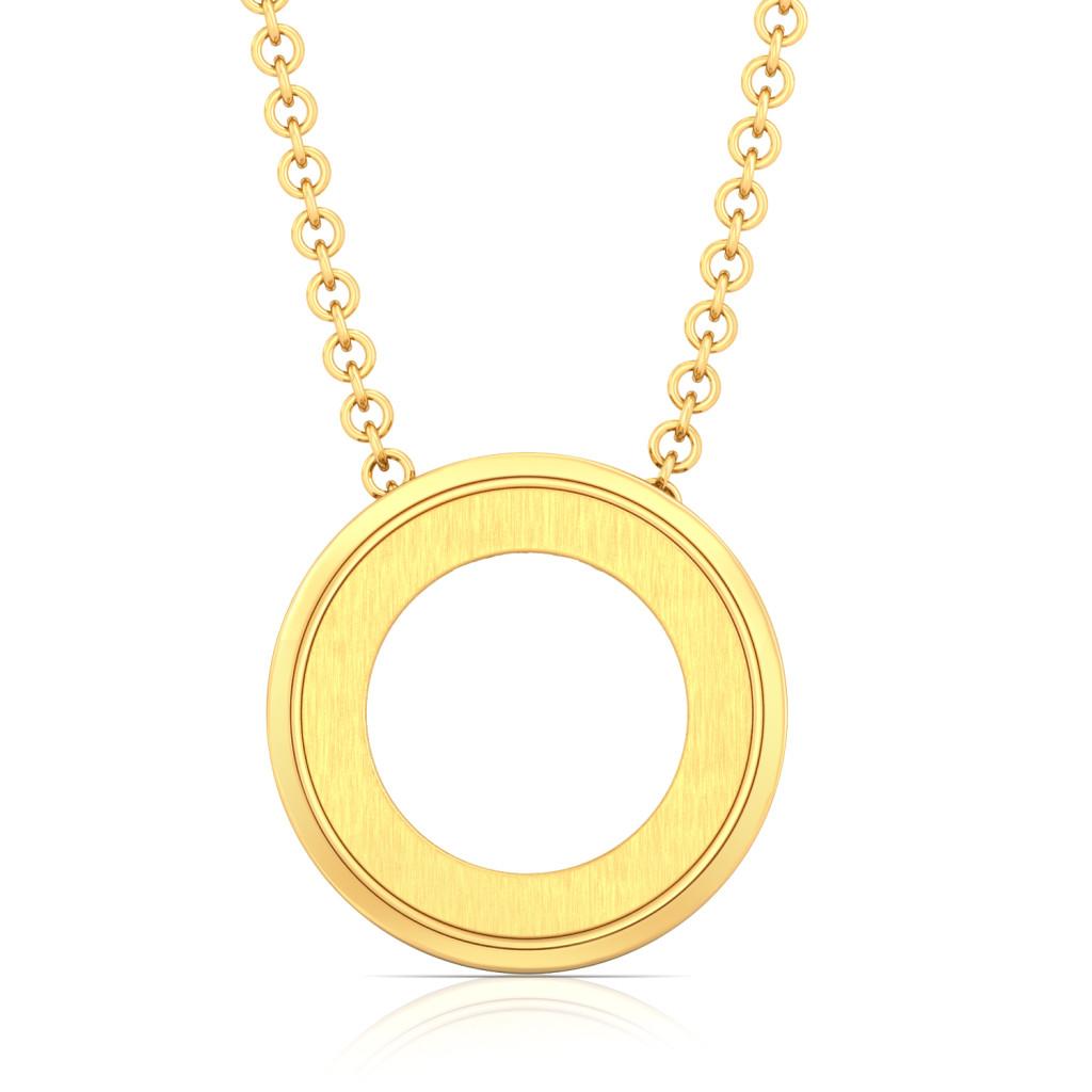 Halo Orbit Gold Pendants