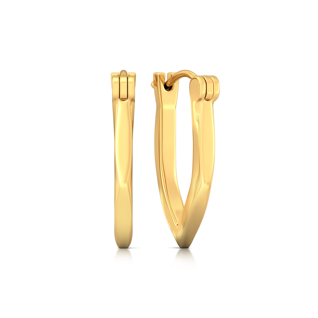 Cool Currents Gold Earrings