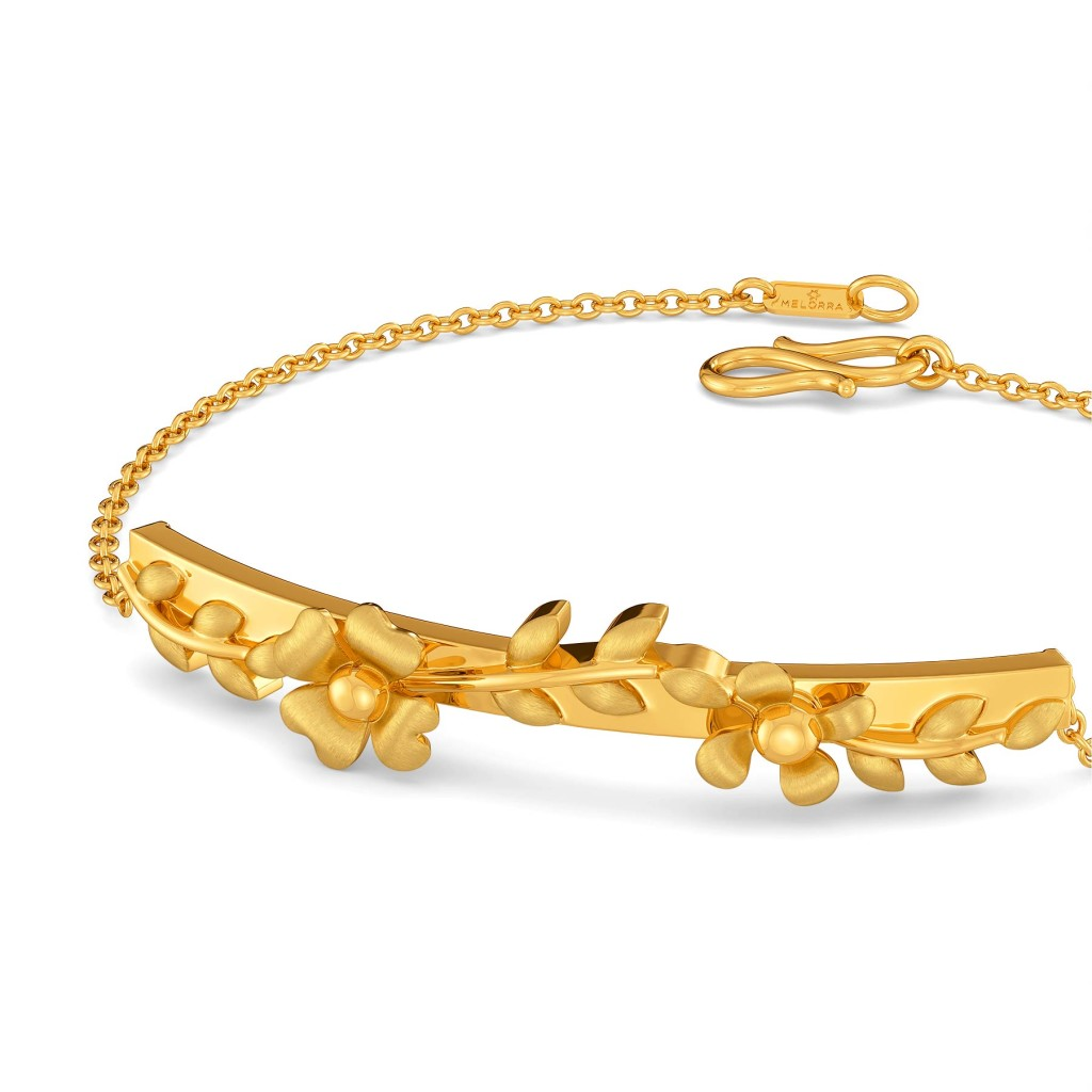 Floral Crown Gold Bracelets