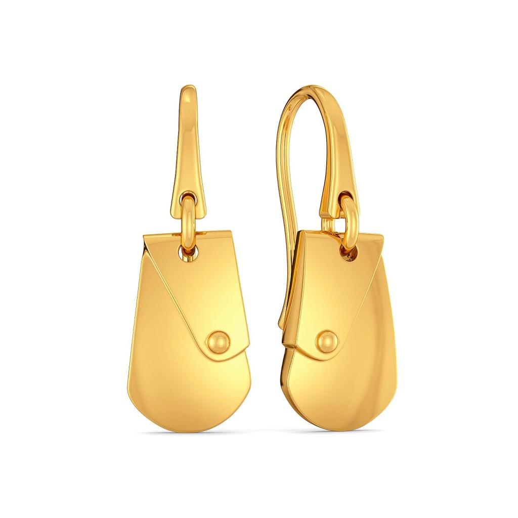 Safari Sleek Gold Earrings