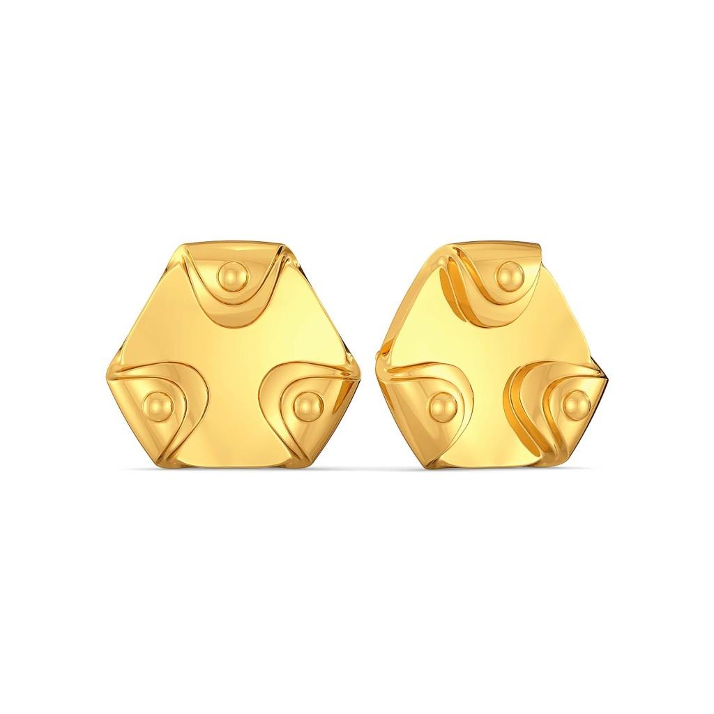 Neutral Knots Gold Earrings