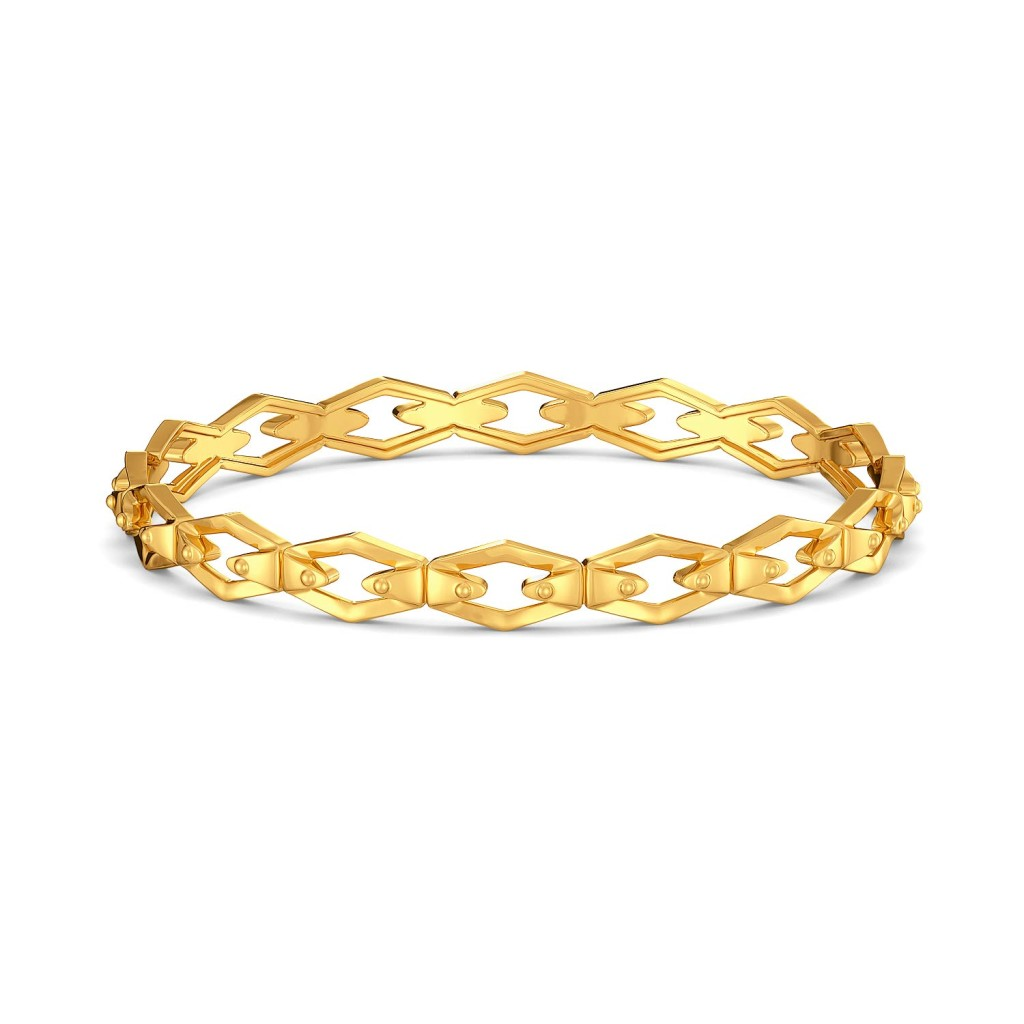Neutral Knots Gold Bangles