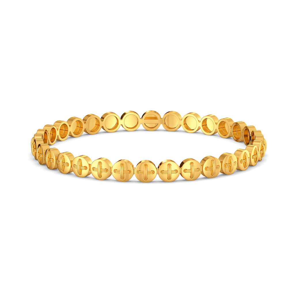Button Binge Gold Bangles