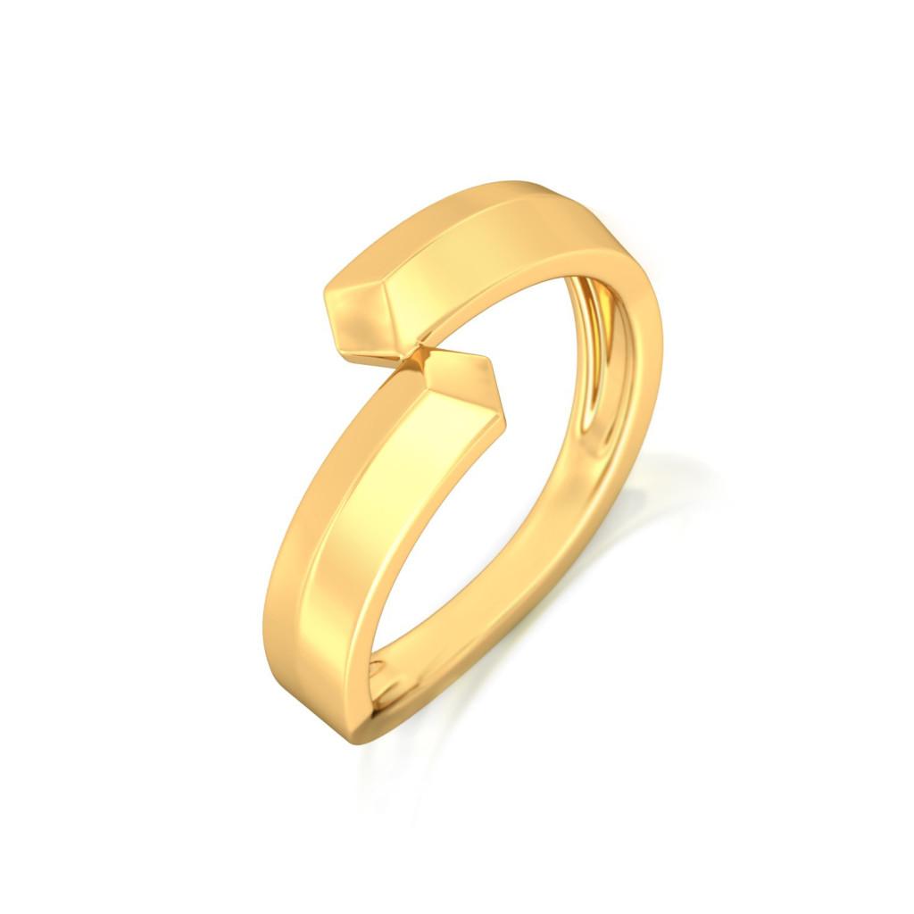 Binary Beauties Gold Rings