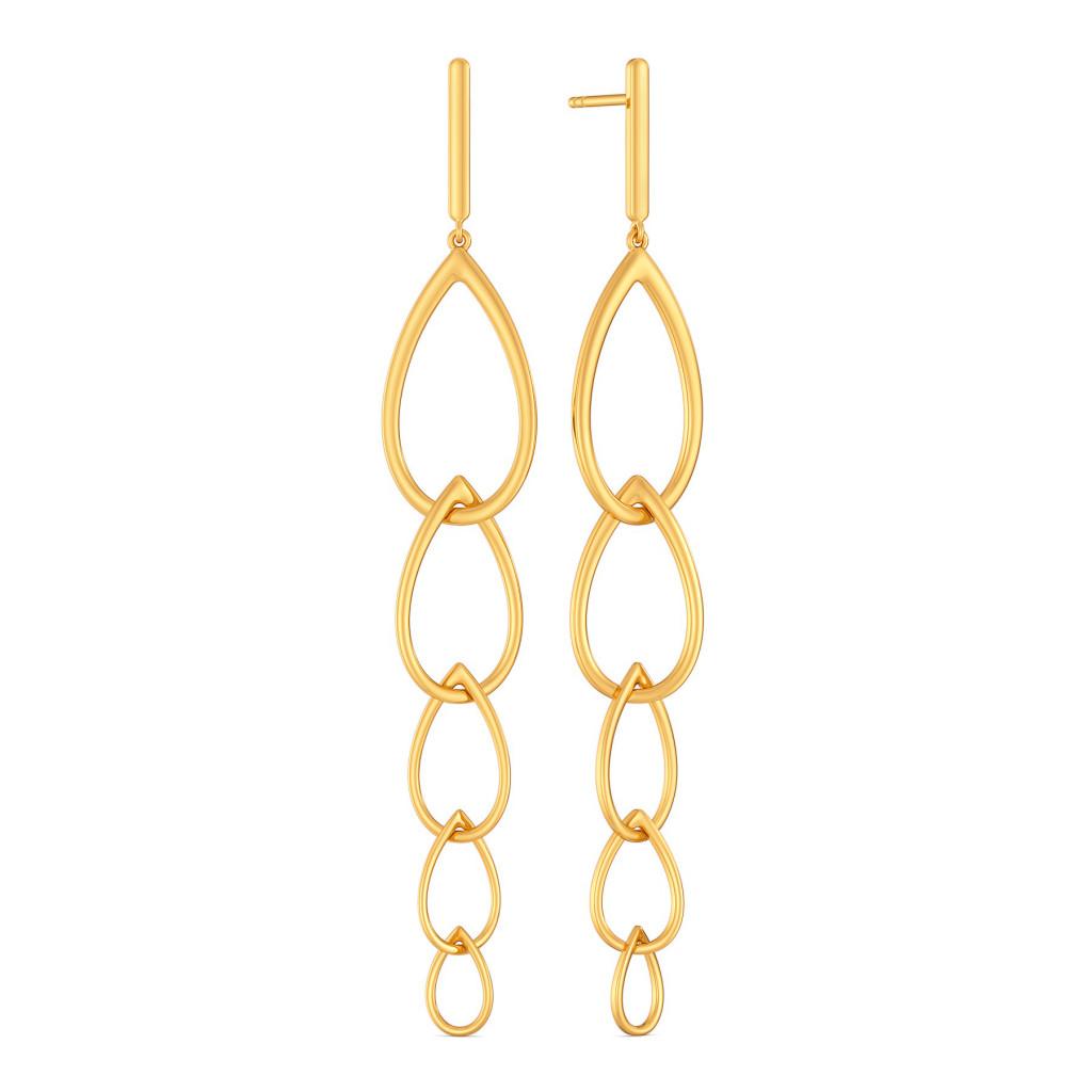 Blink A Link Gold Earrings