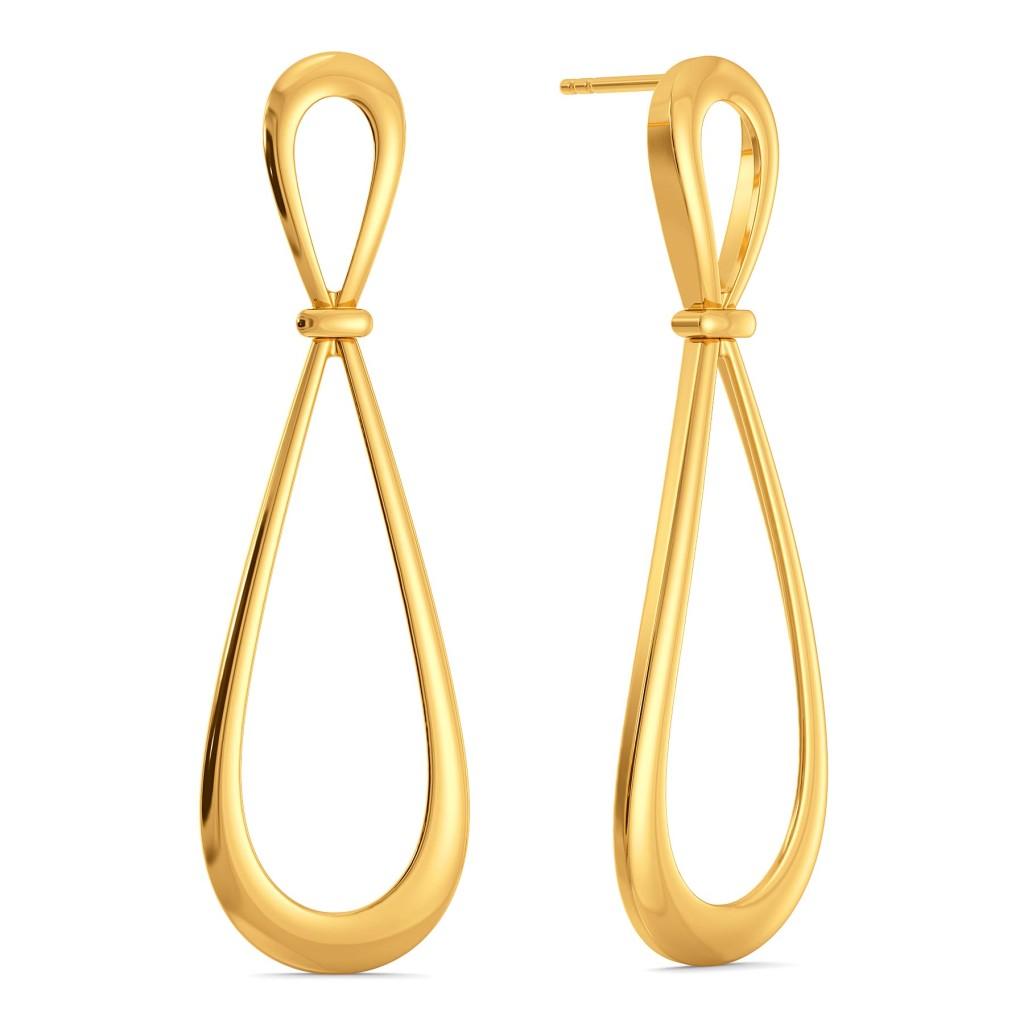 Lazy Loops Gold Earrings