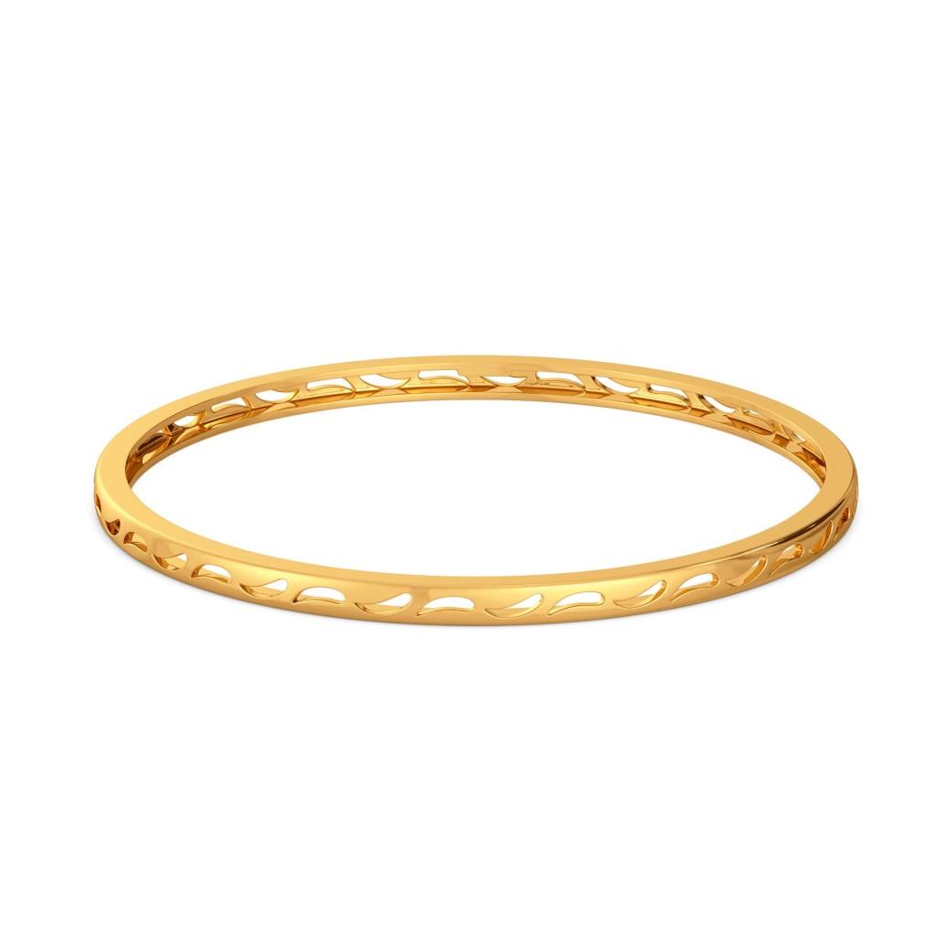 Daisy Paisley Gold Bangles