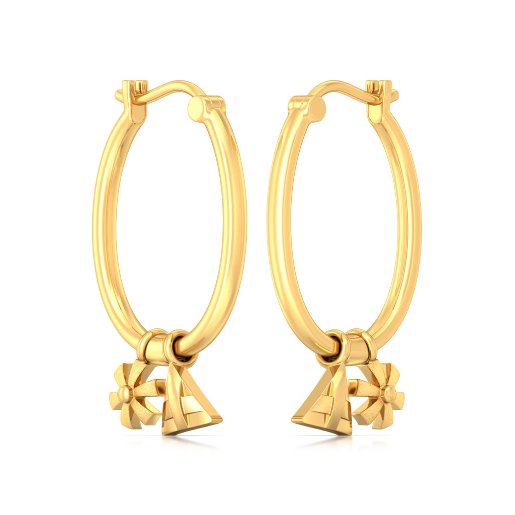 Multifaceted Gold Earrings