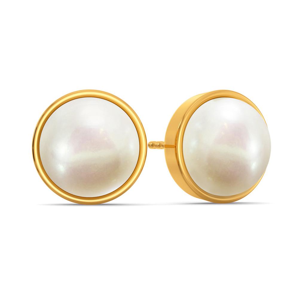 Circle of Pearls Gemstone Earrings