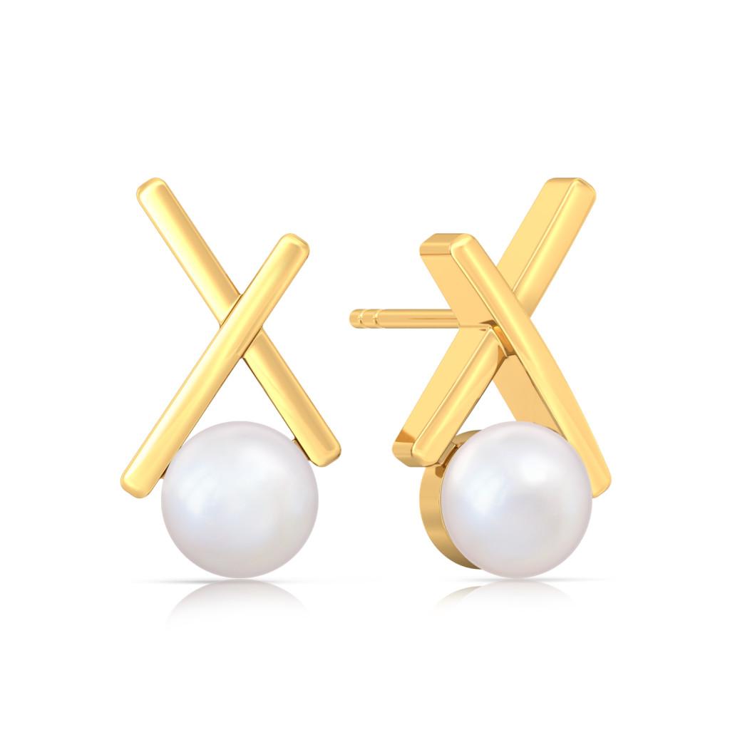 Criss-over-cross Gemstone Earrings