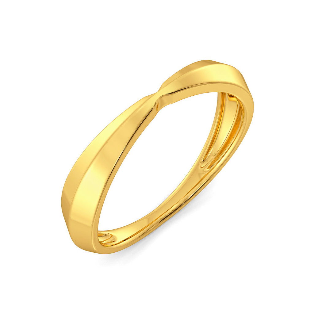 Groovy Folds Gold Rings