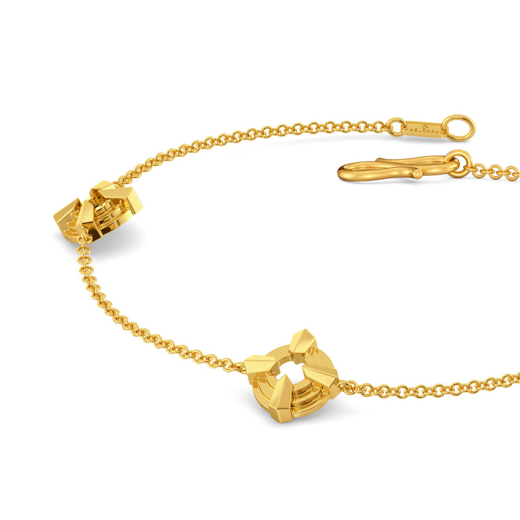 Solar Plisat Gold Bracelets