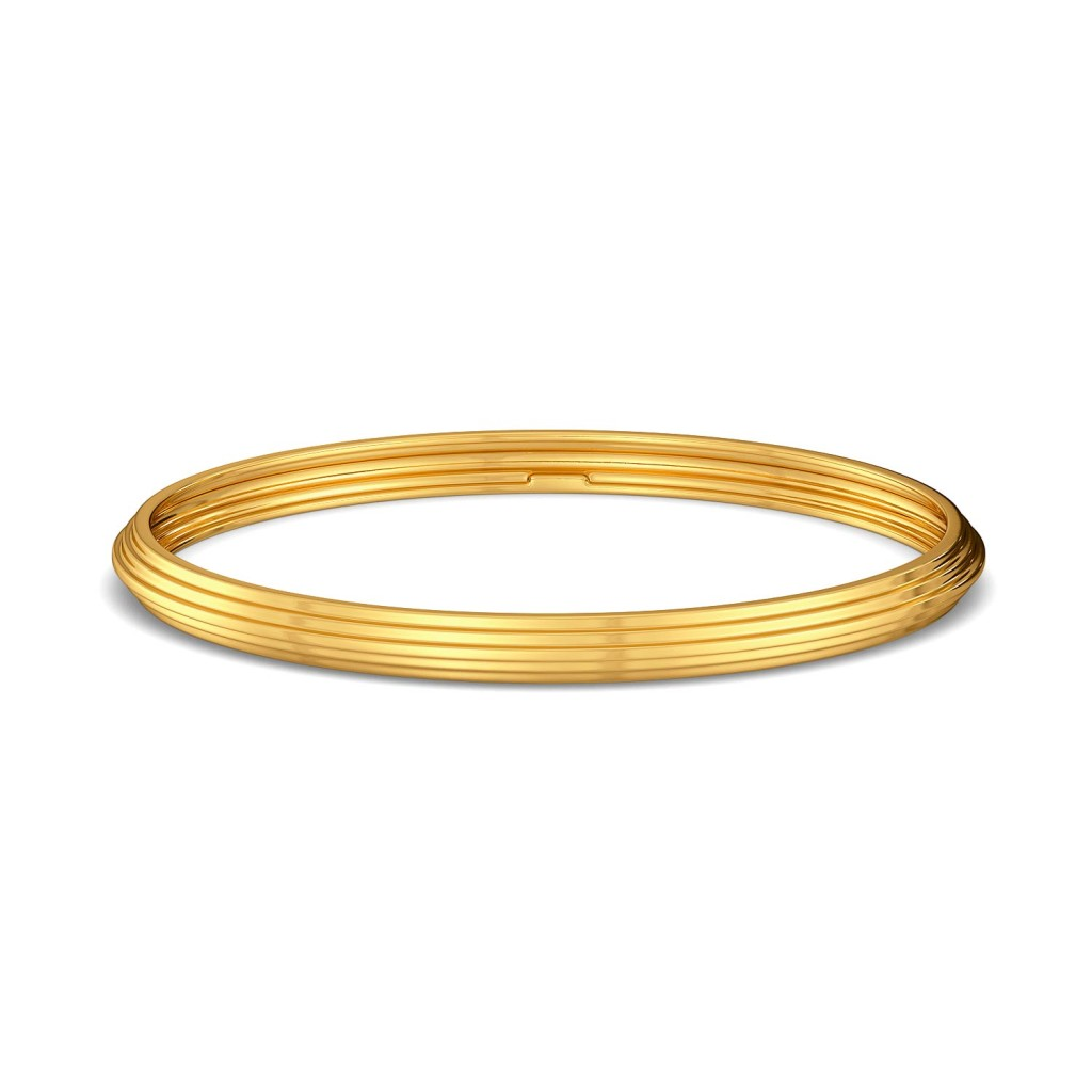 A Pleat Treat Gold Bangles