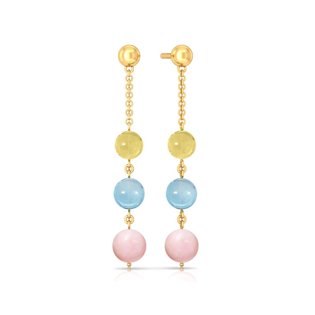 Pastel Sundae Gemstone Earrings