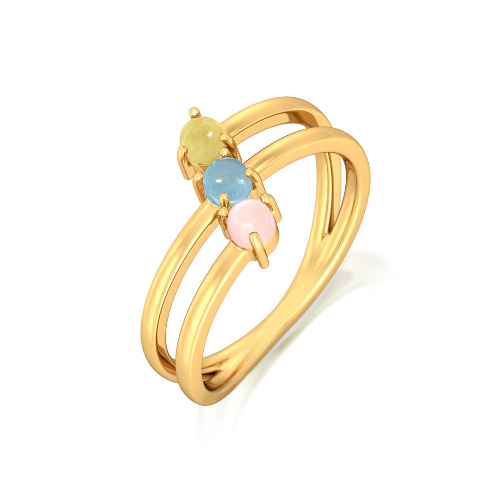 Pastel Sundae Gemstone Rings