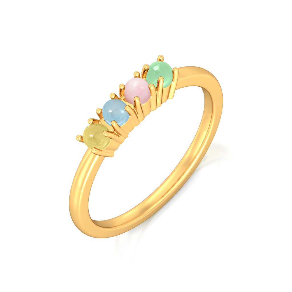 Gelato Party Gemstone Rings