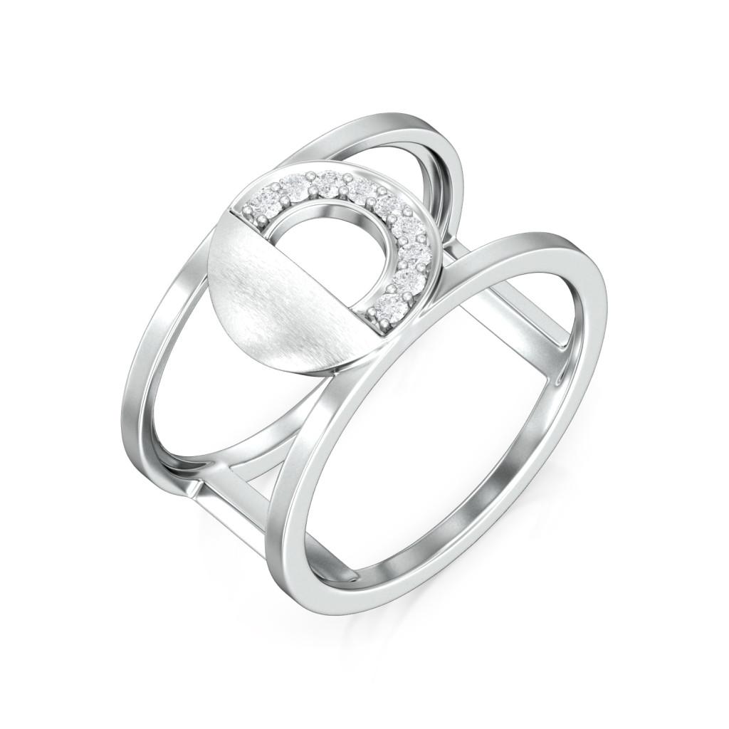 Lunar Moon Diamond Rings