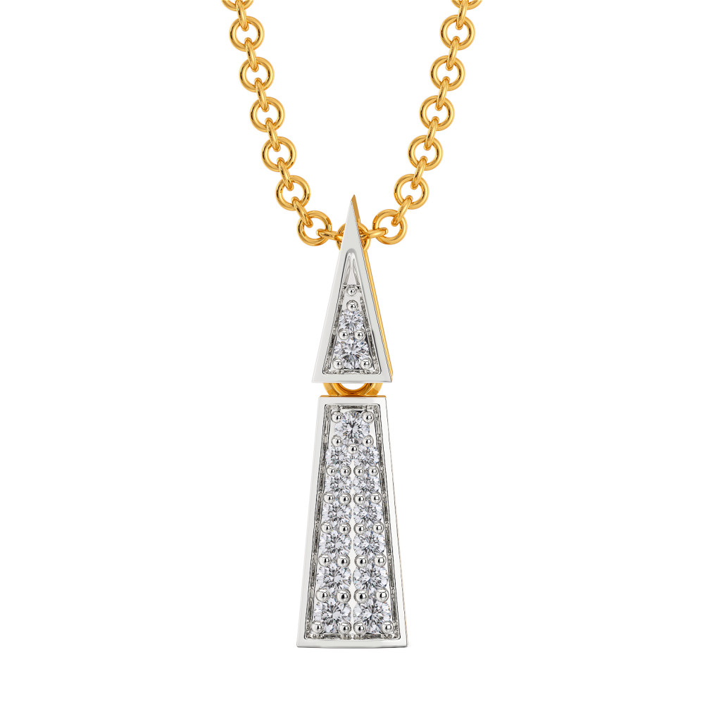 Sharp Edged Diamond Pendants