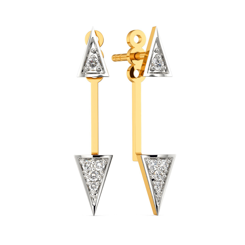 Power Triangle Diamond Earrings