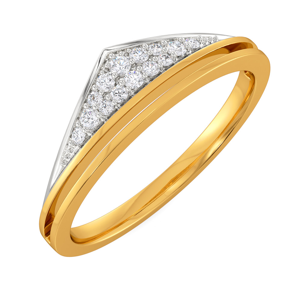 Bold Folder Diamond Rings