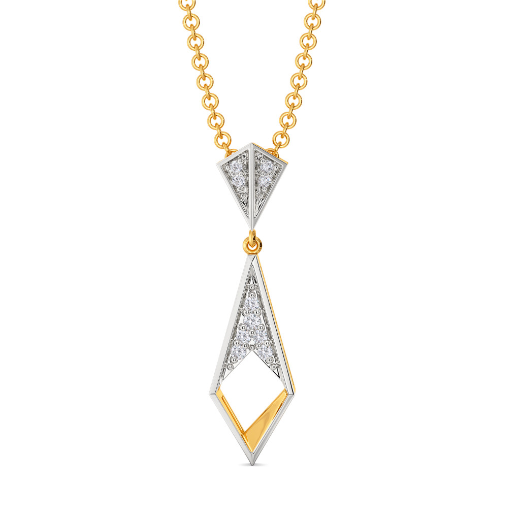 Bold Folder Diamond Pendants