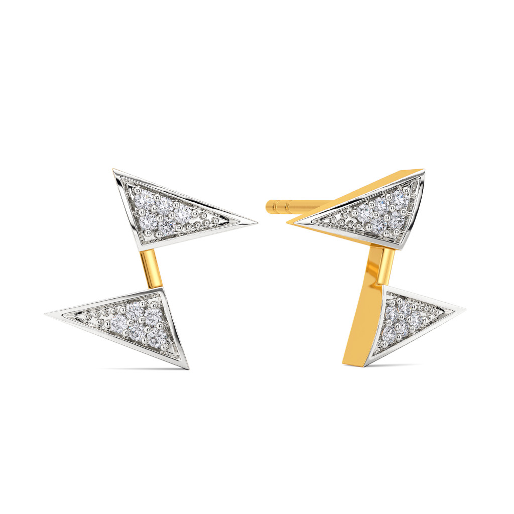 Bold Folder Diamond Earrings