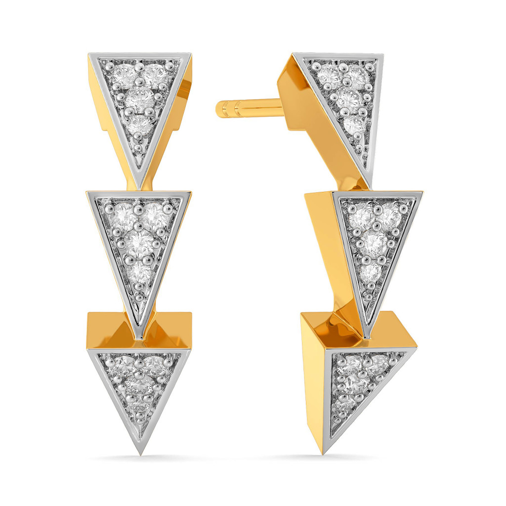 Power Trio Diamond Earrings