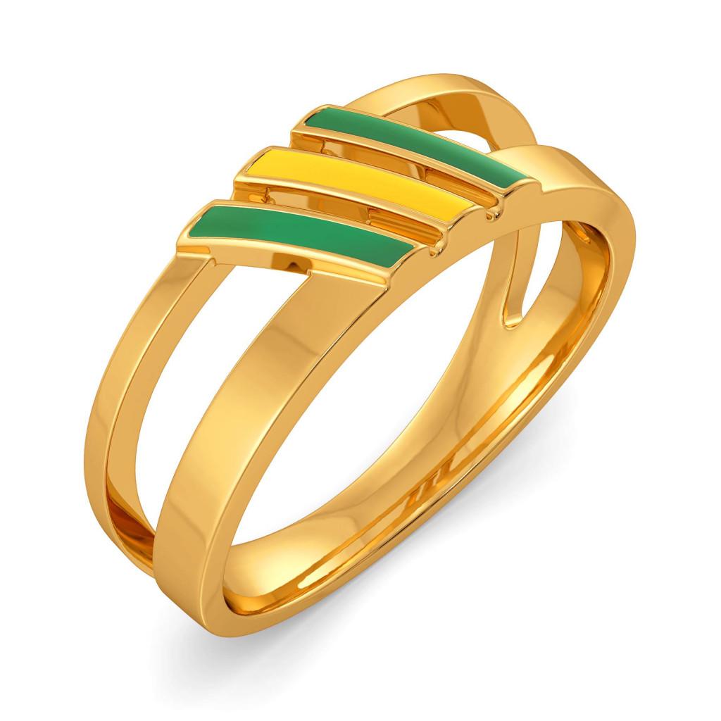 Varsity Greens Gold Rings