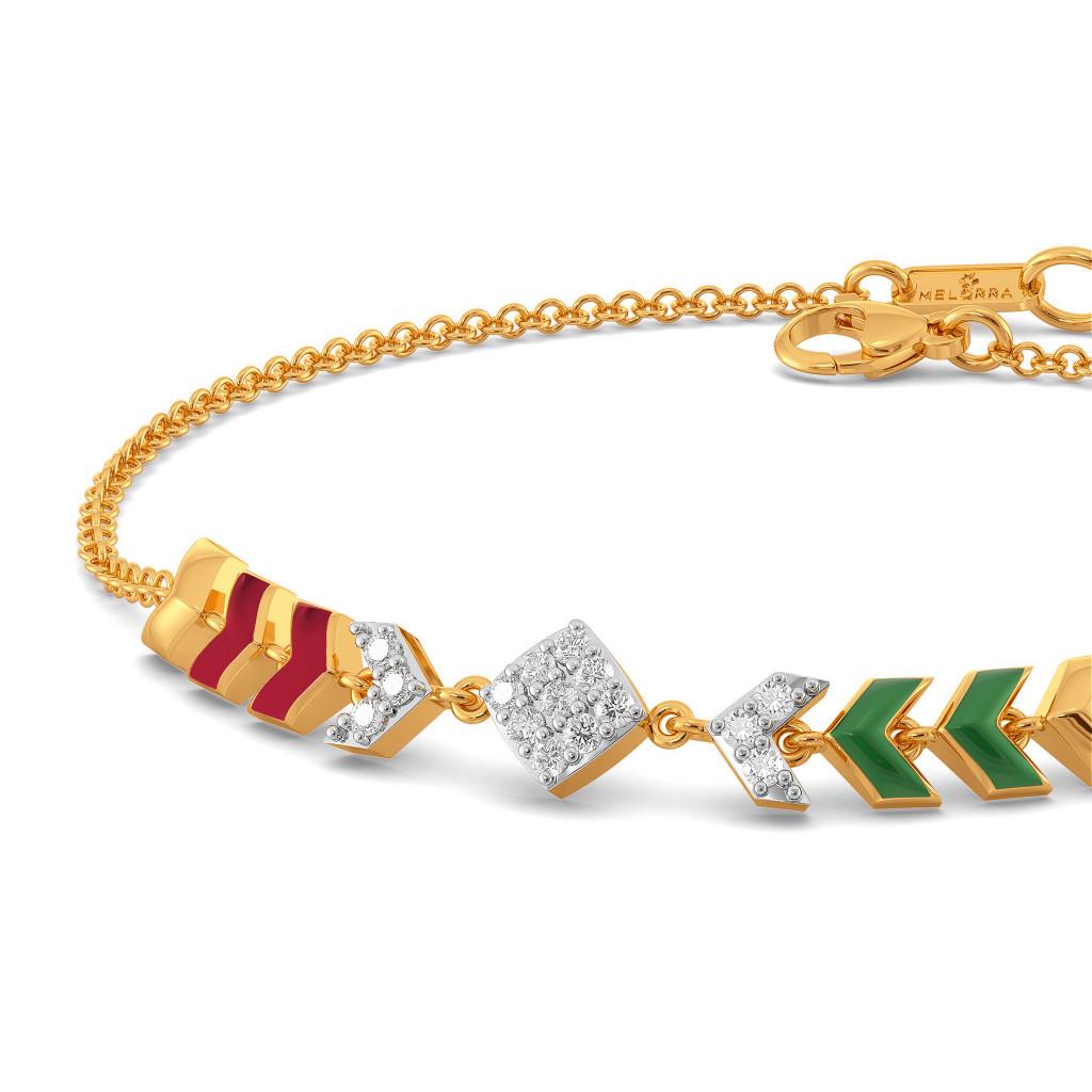 Happy Go Preppy Diamond Bracelets