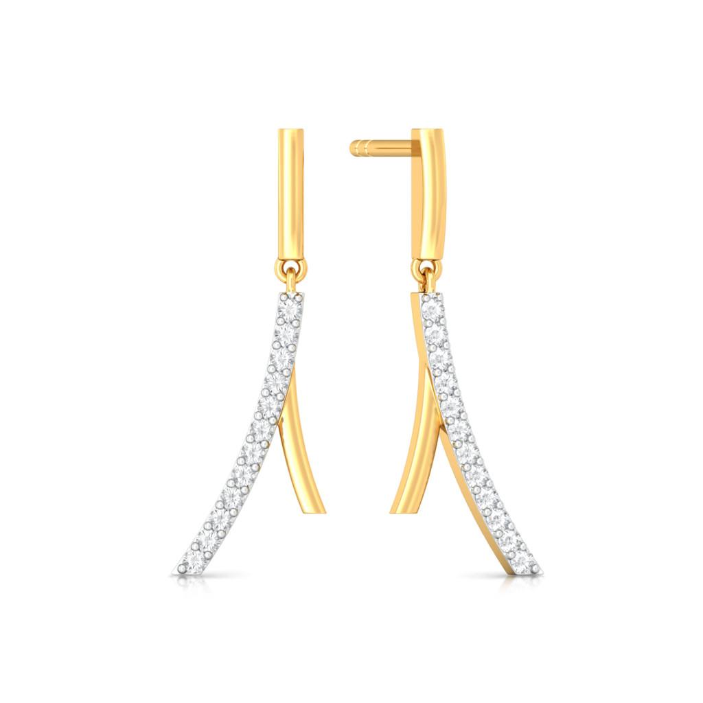 Cool Curves Diamond Earrings