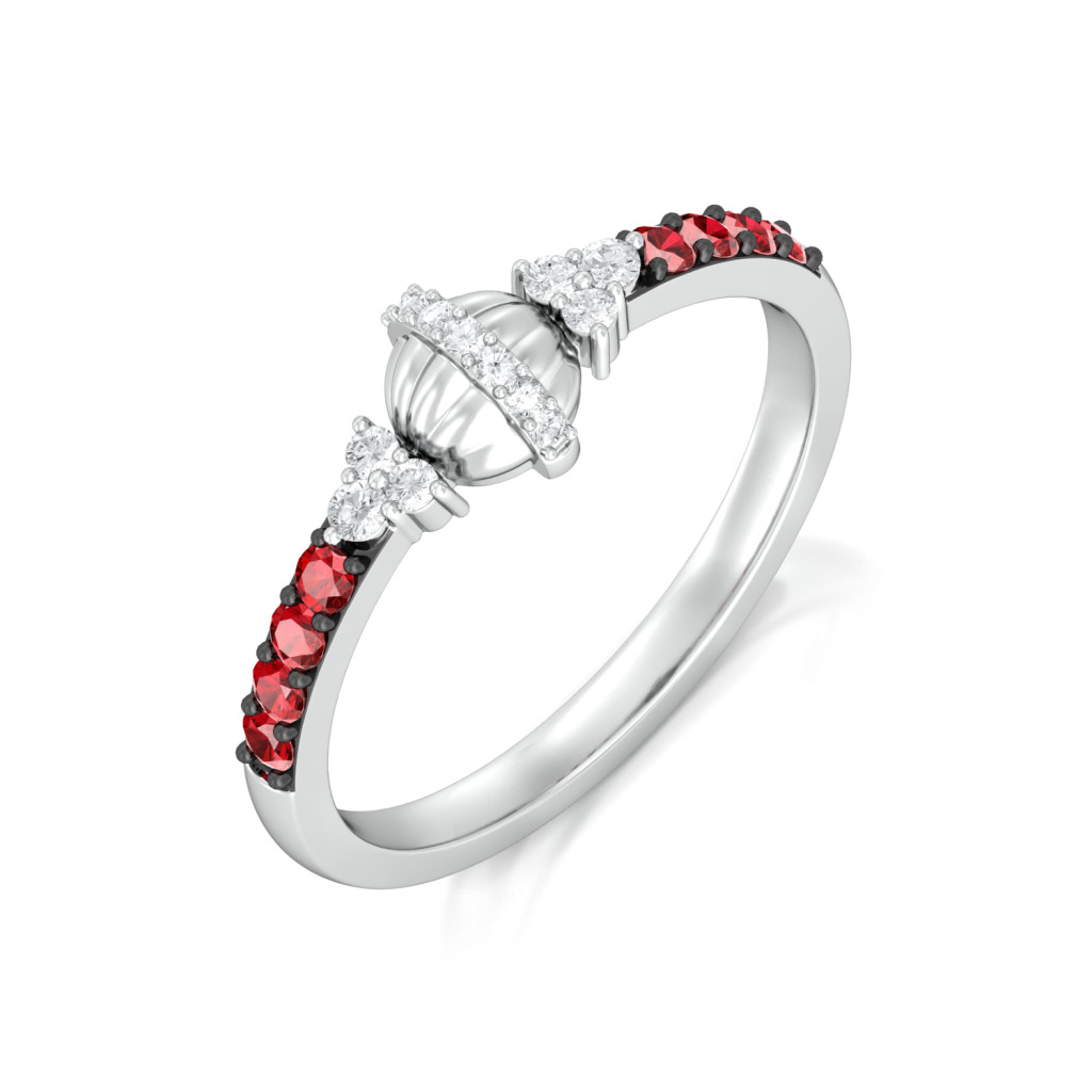 Lady in Red Diamond Rings