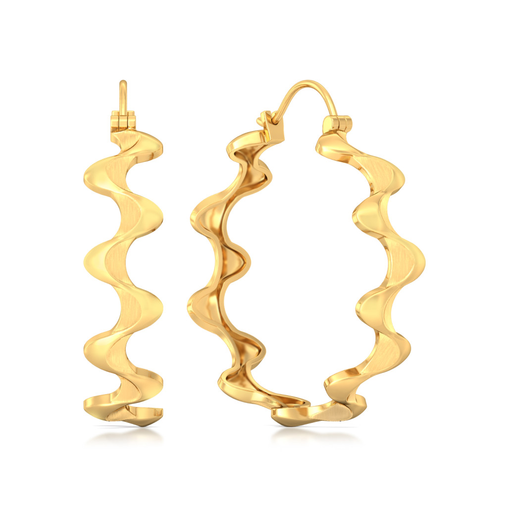 Tale of Kale Gold Earrings