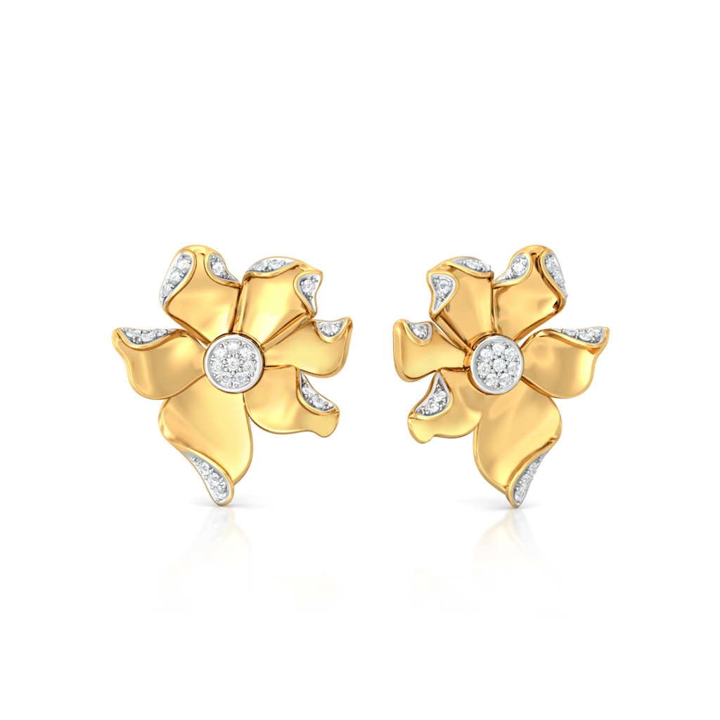Sparkly Nuttallii Diamond Earrings