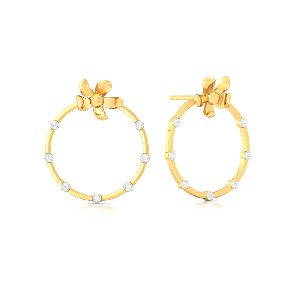 Floral Wreath Diamond Earrings