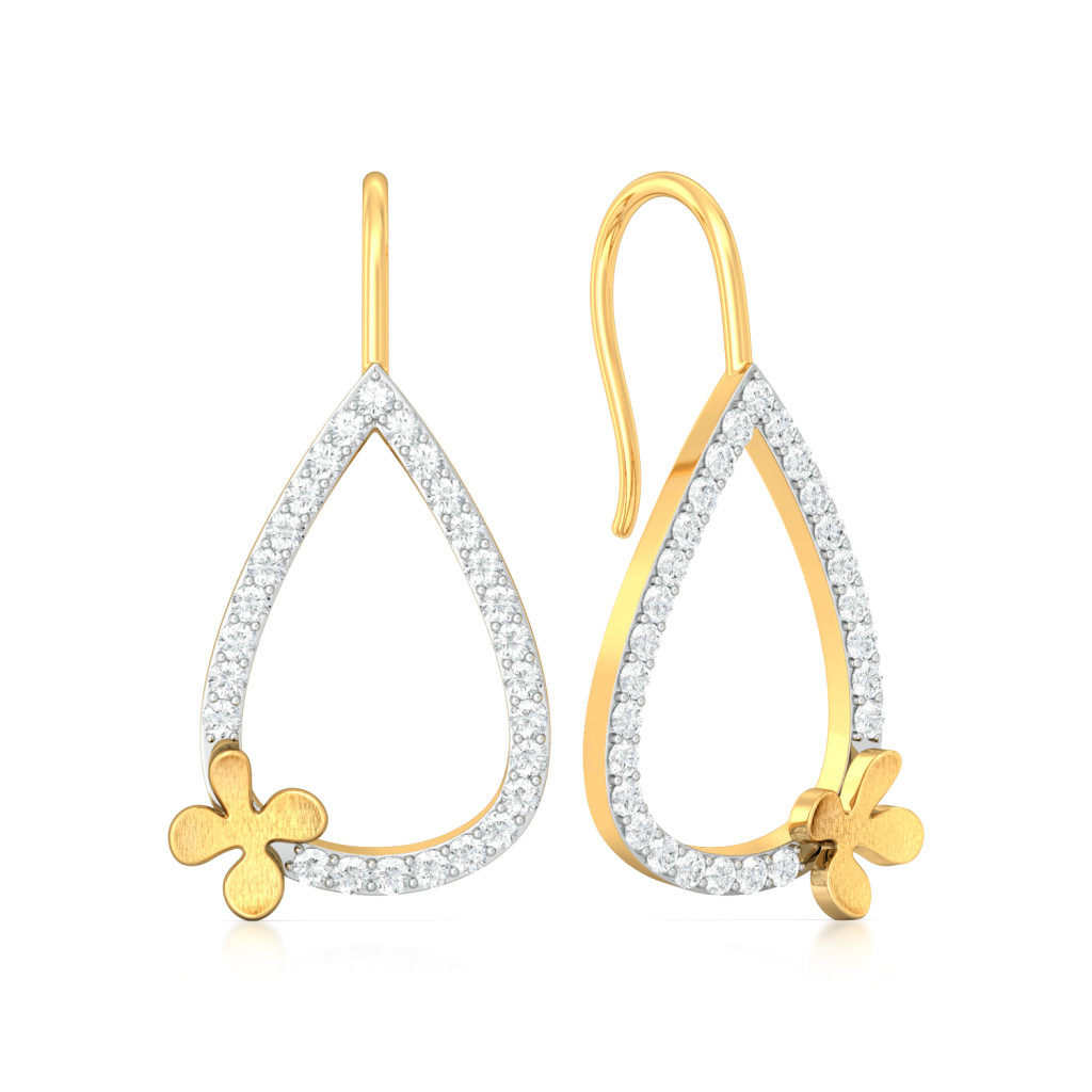 Clever Clover Diamond Earrings