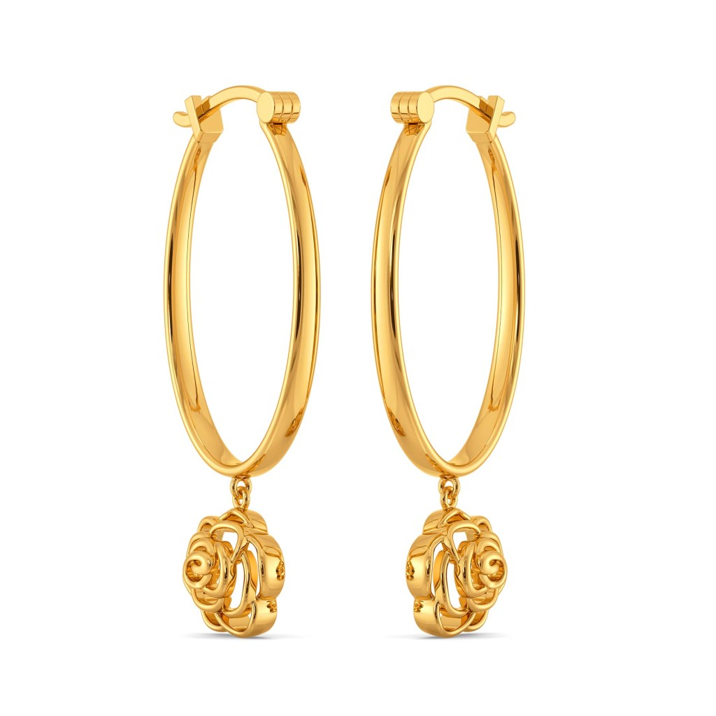 Rebel Love Gold Earrings