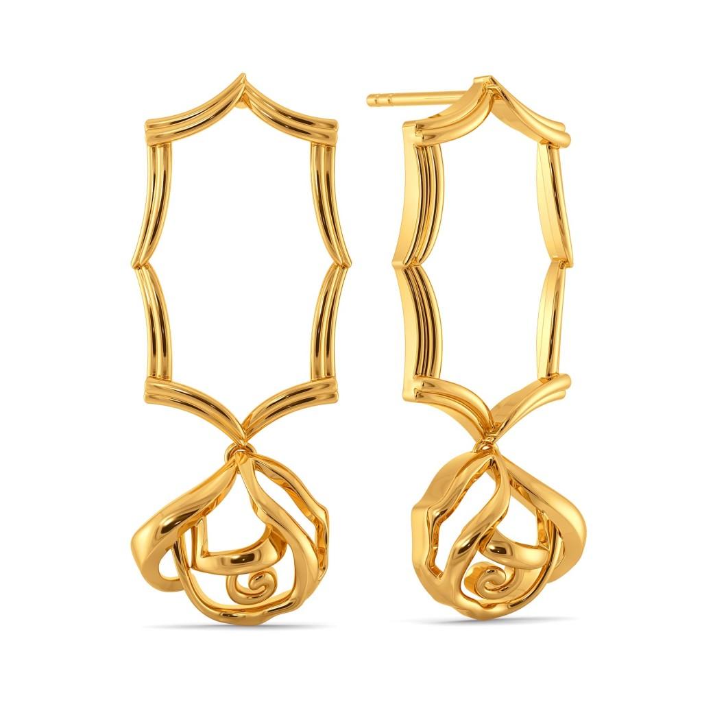 Renaissance Roses Gold Earrings