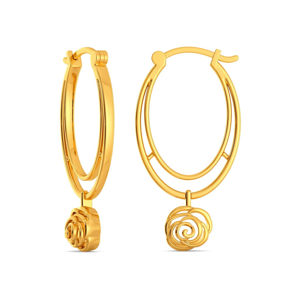 Blazing Blossom Gold Earrings