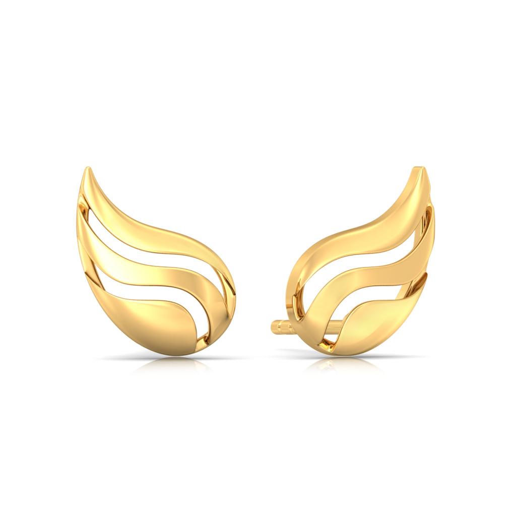 Pretty in Paisley Gold Earrings