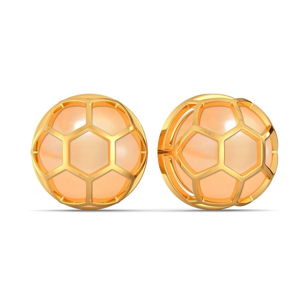 Peachy Vibes Gemstone Earrings