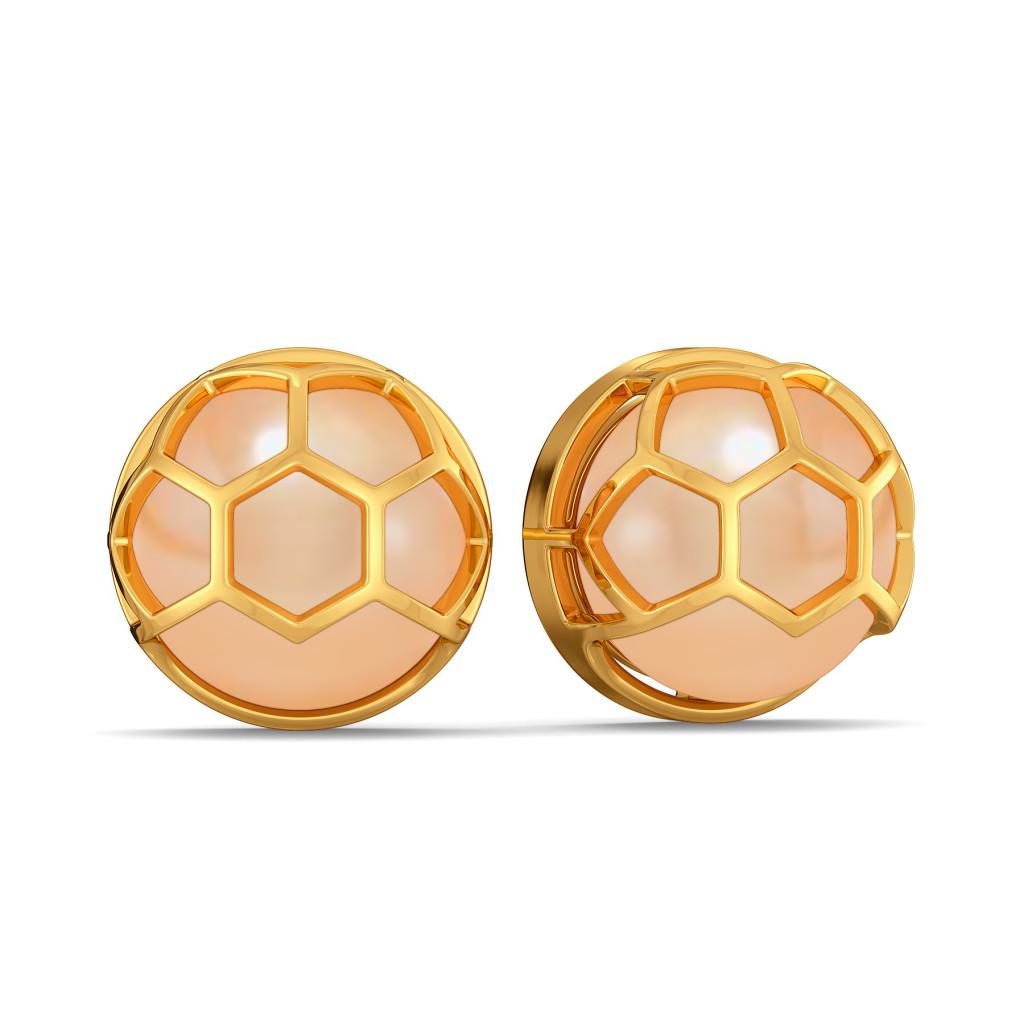 Peek A Peach Gemstone Earrings
