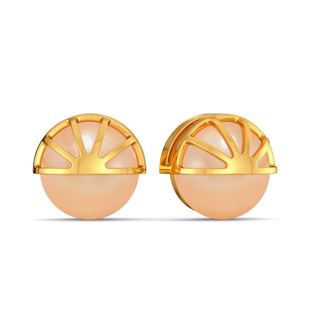 Peach On Point Gemstone Earrings