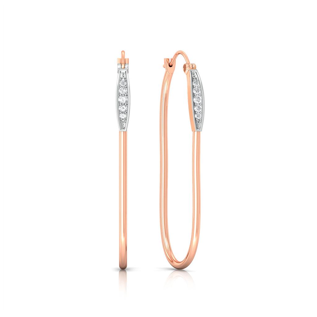 U-Turn Diamond Earrings