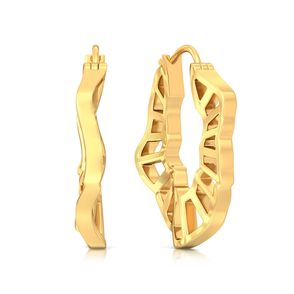 Ripple Effect Gold Earrings