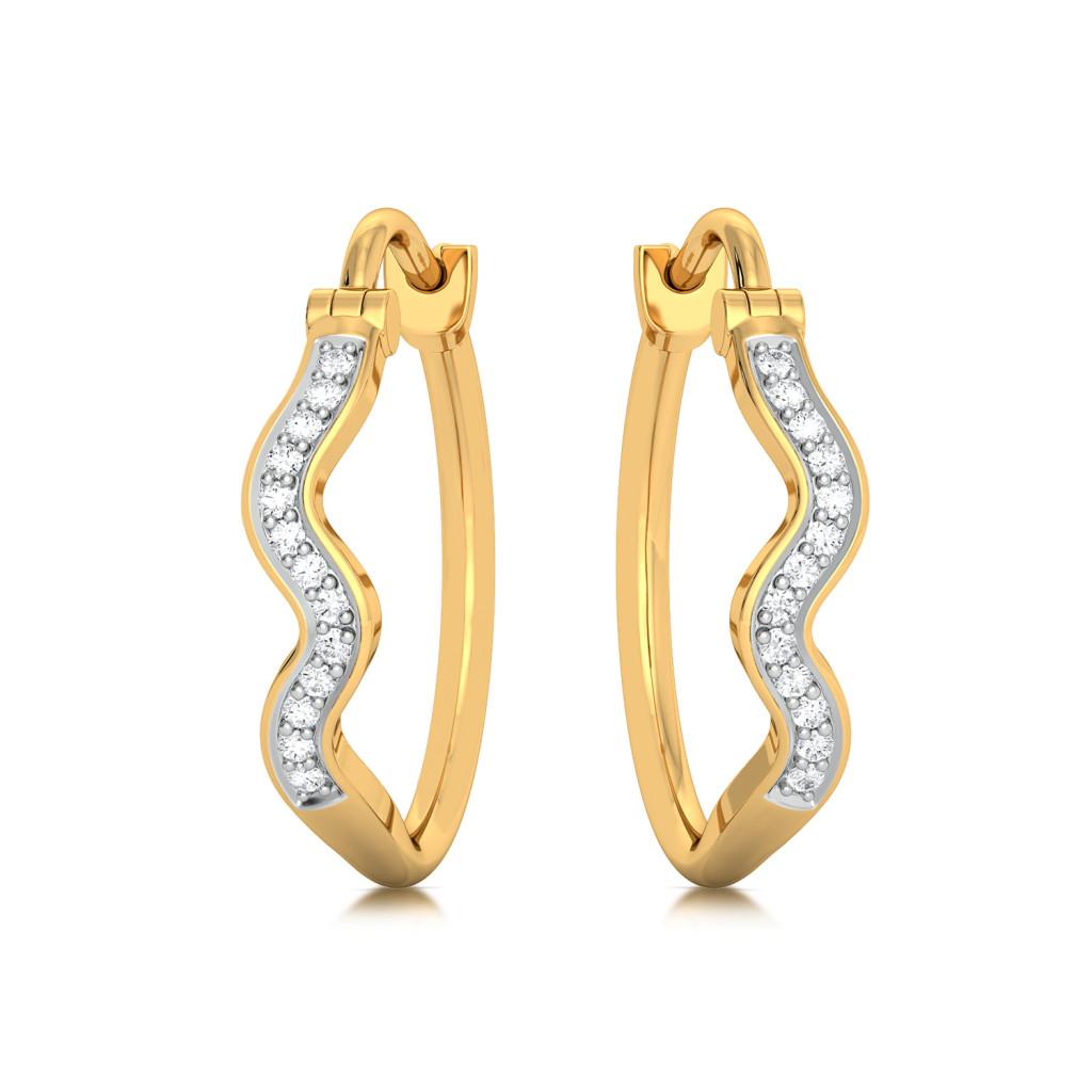 Blue Dew Diamond Earrings