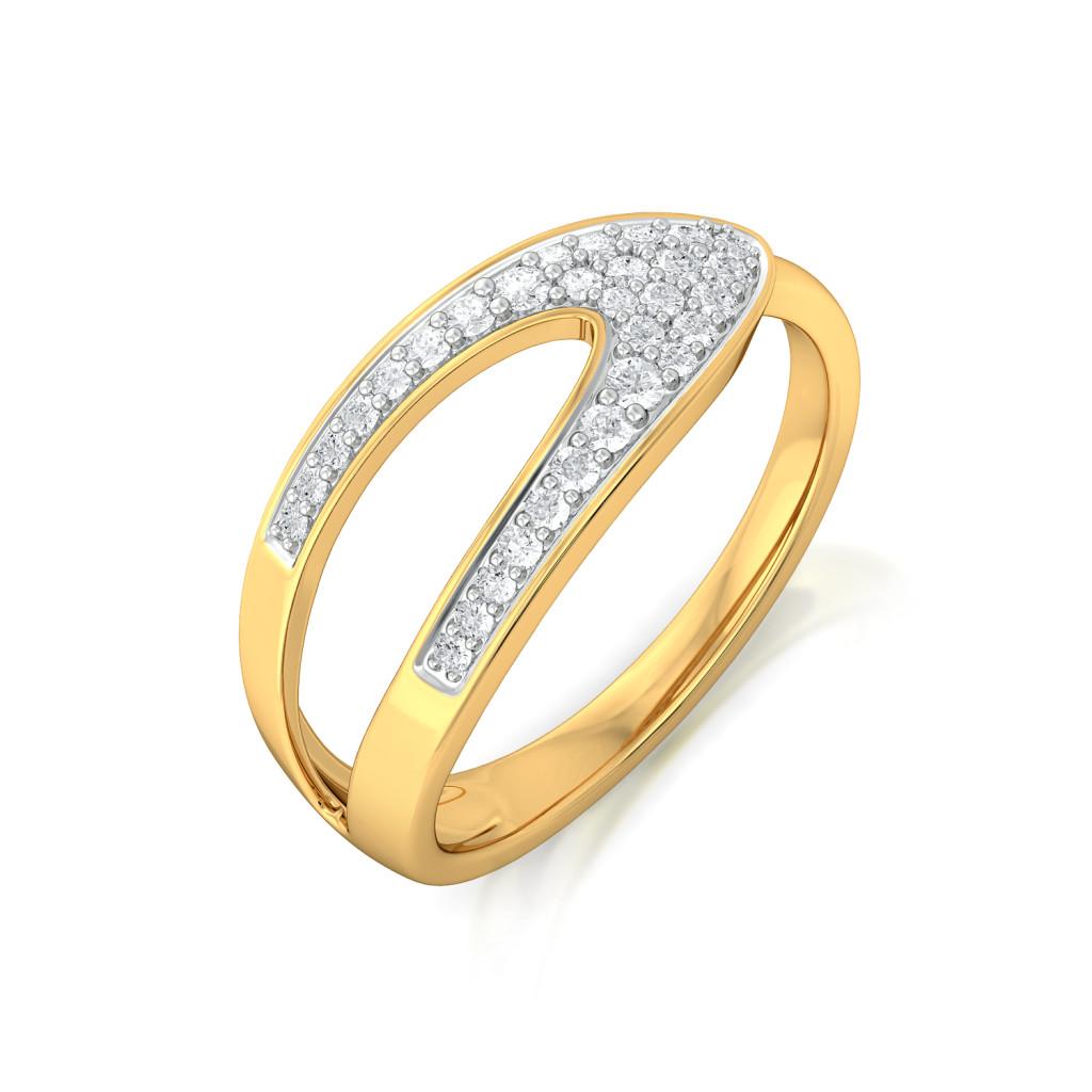 The Spark Arc Diamond Rings
