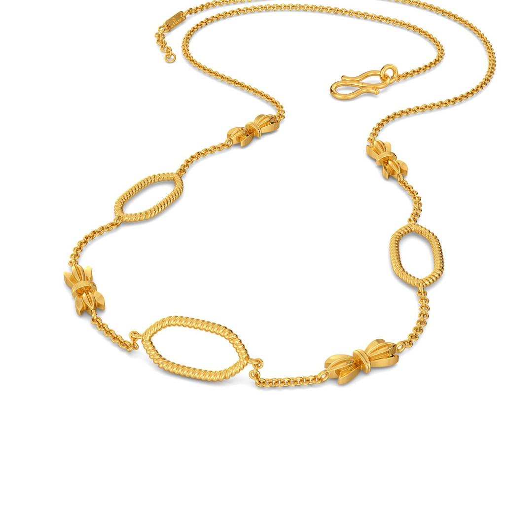 Bow Baroque Gold Necklaces