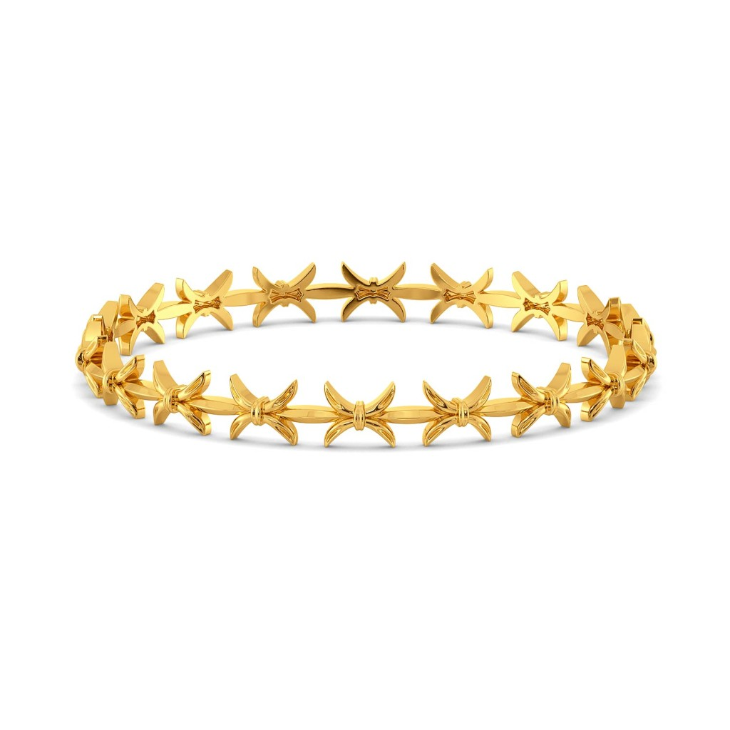 Bow Baroque Gold Bangles