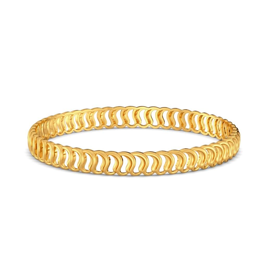 Greek Guilloche Gold Bangles