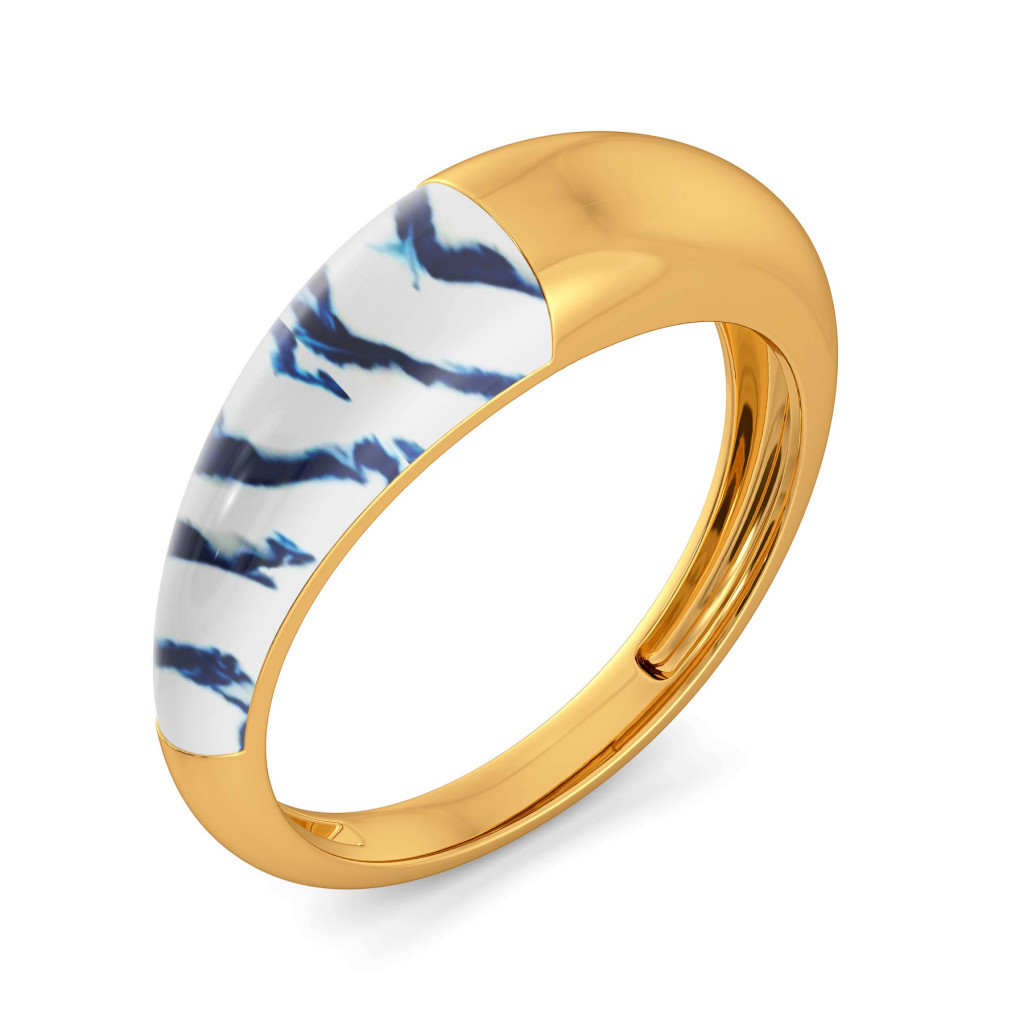 Dyed in Blue Gold Rings
